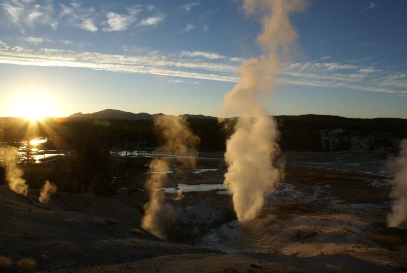 Zonsondergang op Porcelin Basin
