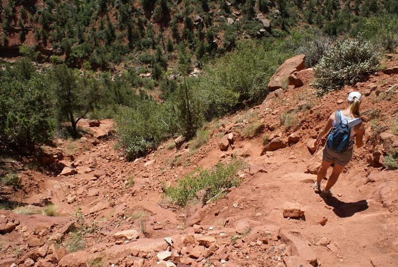 Hanneke op de Left Fork trail