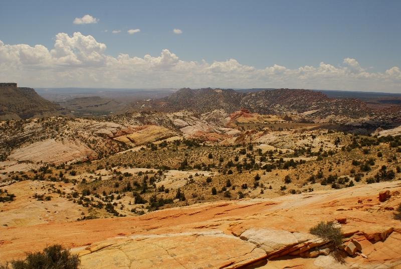 Uitzicht vanaf Yellow Rock richting Red Top