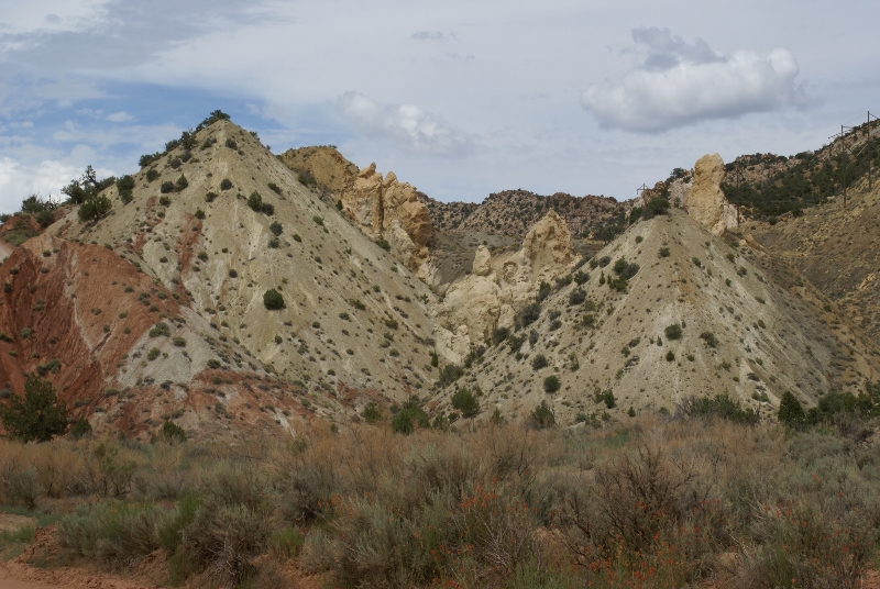 Langs de Cottonwood Canyon Road